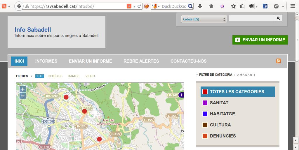 Una web para marcar los puntos negros de Sabadell