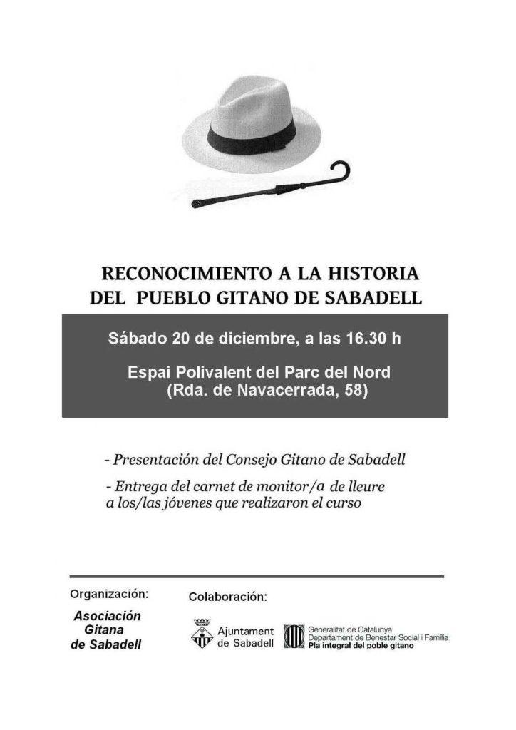 La FAVS en el acto de presentación del Consejo Gitano de Sabadell