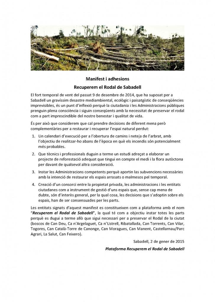 Recuperem el Rodal de Sabadell cat