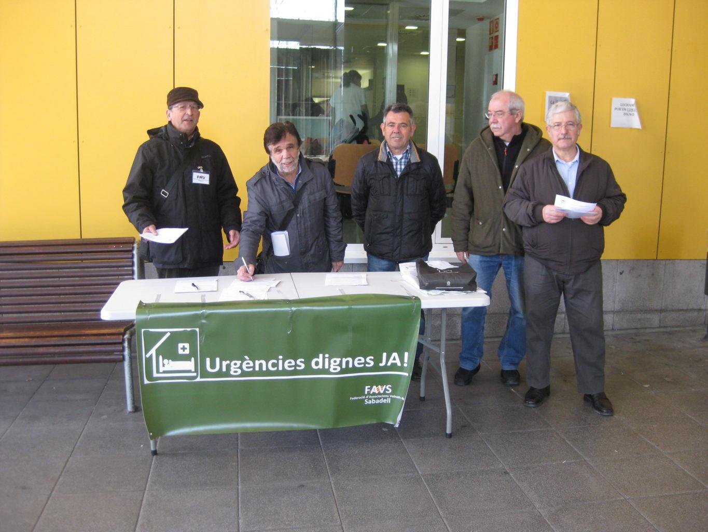 """Dilluns, 16 de febrer a les 10h, recollida de signatures """"per unes urgències dignes a taulí"""""""