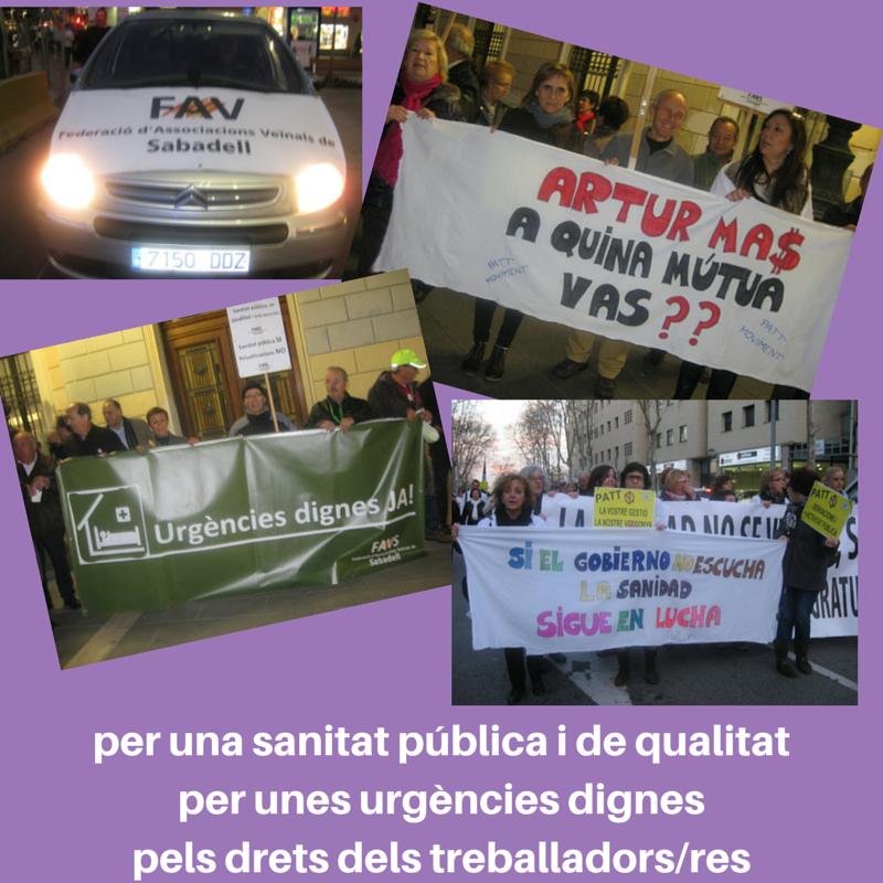 manifestació 3 de març per una sanitat pública i de quiatitat