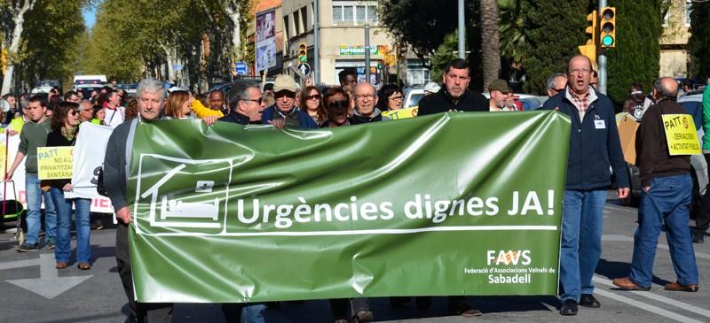 La FAVS a la mani de sanitat del dimarts 7 d'abril