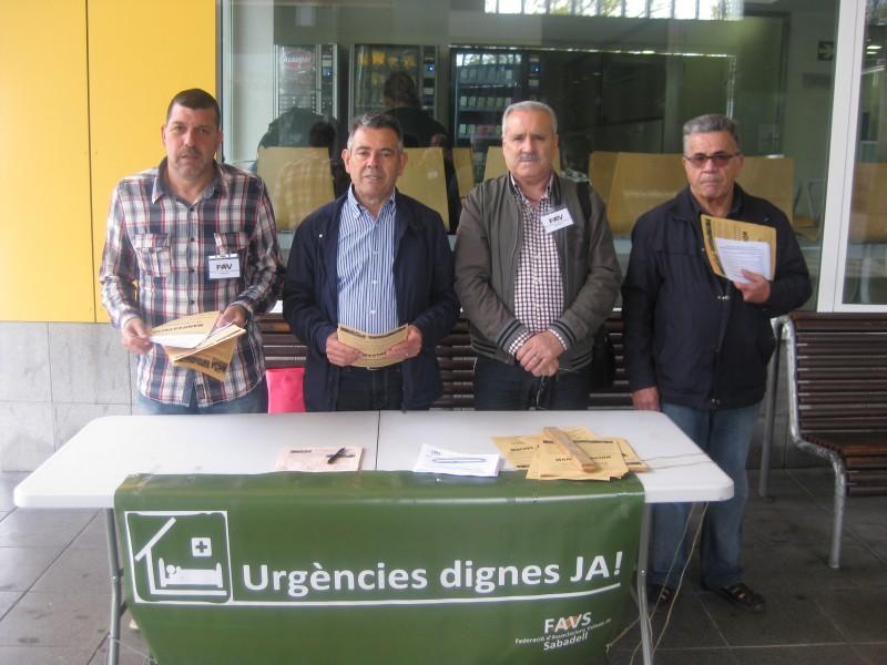 Campaña por unas urgéncias dignas en el Taulí