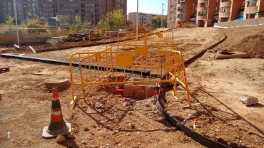 Final de la primera fase obras de plaza España