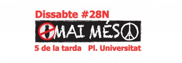 Manifestació a barcelona: mai més