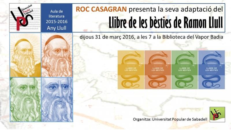 UPS, aula literatura: Ramón LLull