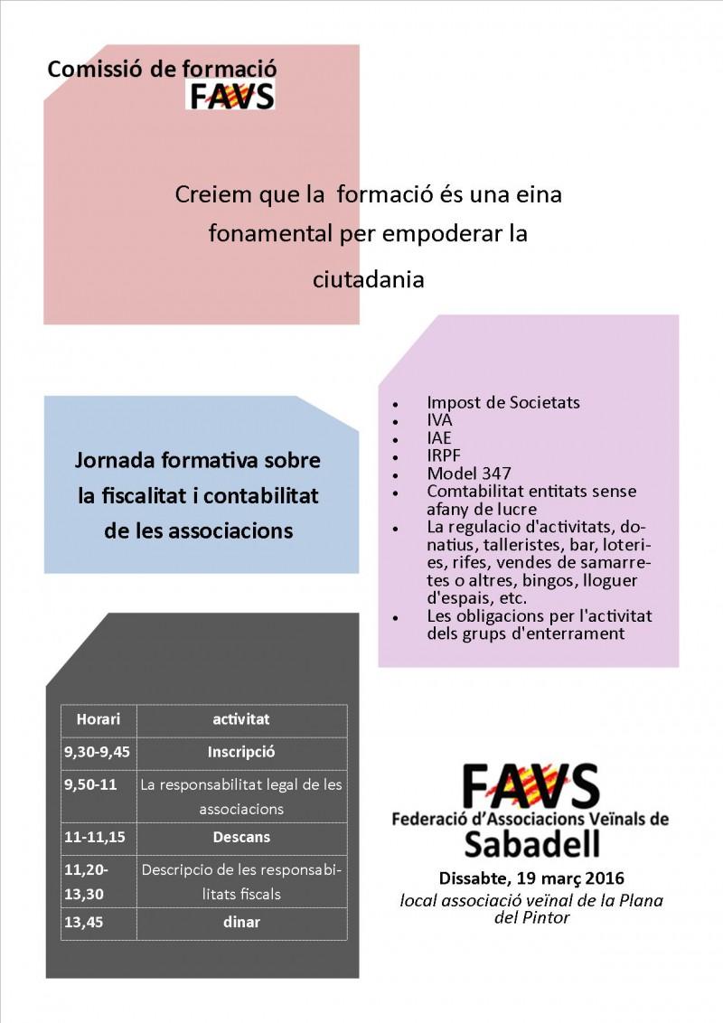 Jornada de la FAVS sobre la fiscalitat de les associacions