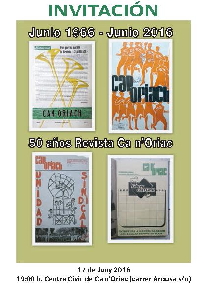Reconocimiento de la FAVS a la trayectoria de la Revista de Ca n'Oriac