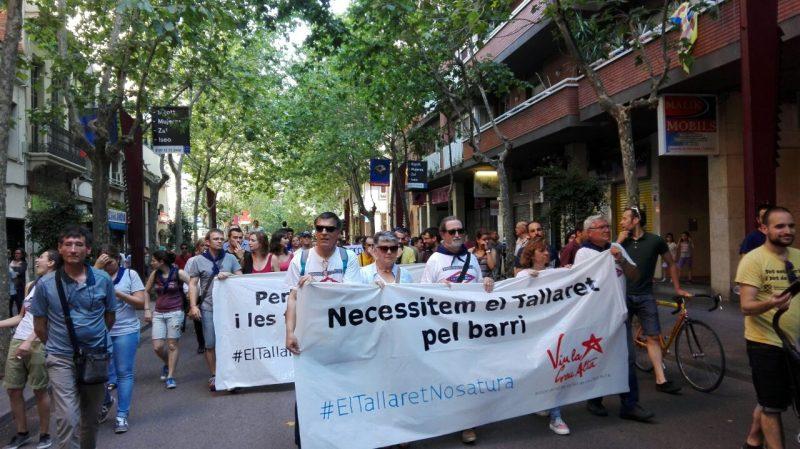 """Donant suport al Casal Popular de La Creu Alta """"El Tallaret"""""""