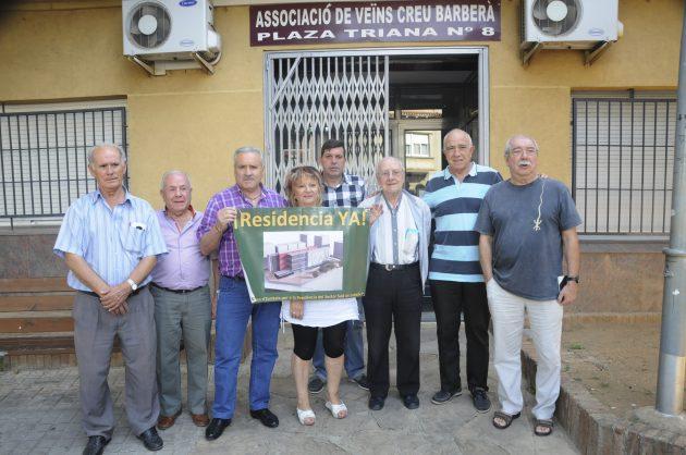 Roda de premsa de la Plataforma per la Residencia Sabadell Sud