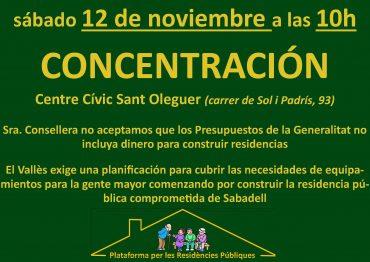 concentració en defensa de les residències públiques i de gestió pública