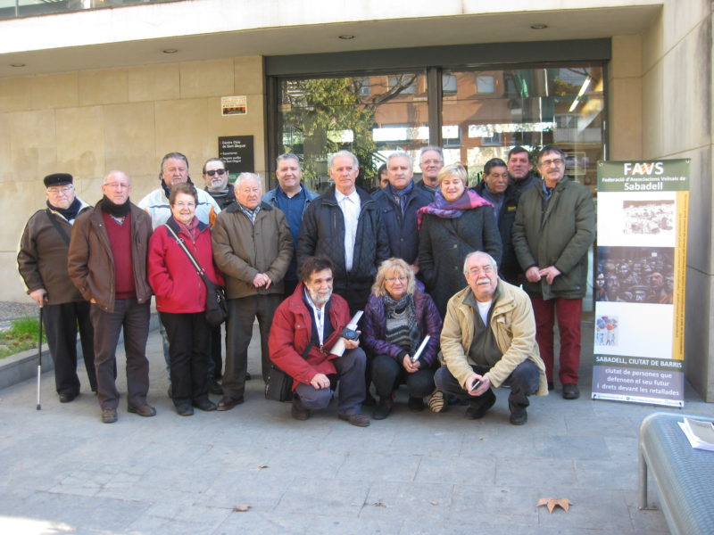 Trobada de moviment veïnal de Sabadell amb la prensa local: balanç d'un any (2016) i perspectives (2017)