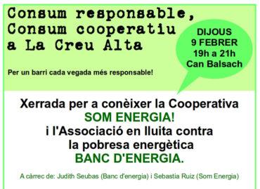 Consum responsable, consum cooperatiu a La Creu Alta