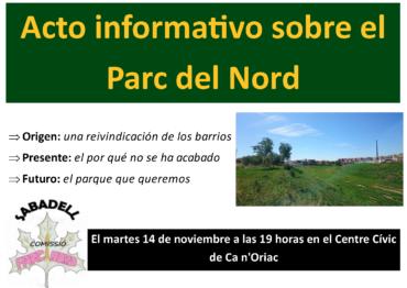Acte informatiu sobre el Parc Nord