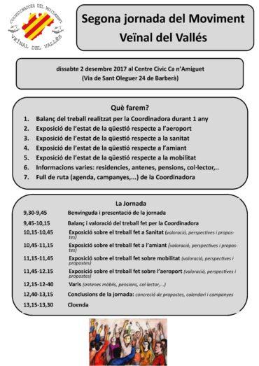 Segona Jornada del Moviment Veïnal del Vallès