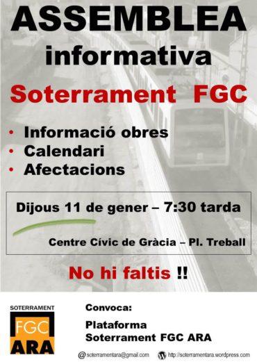 Assemblea informativa sobre el soterrament FGC