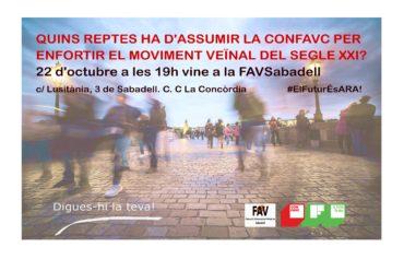 Jornada debat sobre el Pla Estratègic de la CONFAVC a Sabadell