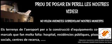 manifestación reivindicando seguridad en el aeropuerto de Sabadell