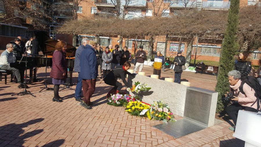 homenatge als assassinats pel feixisme i en particular als sabadellencs assassinats a Mauthausen