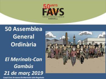 Assemblea ordinaria de la FAVSabadell 2019