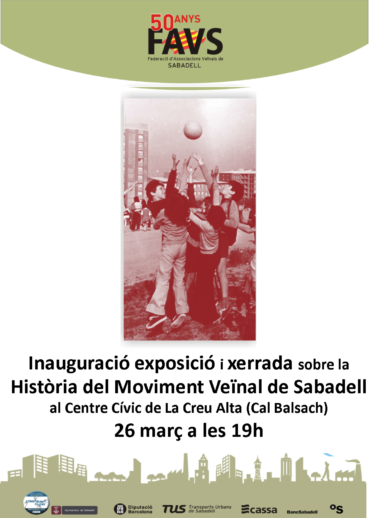 EXPOSICIÓ I XERRADA A LA CREU ALTA