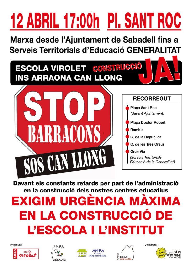 Manifestació: stop barracons a Can Llong